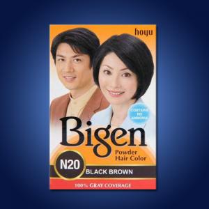 Bigen Powder Hair Dye – Brown Black 60g