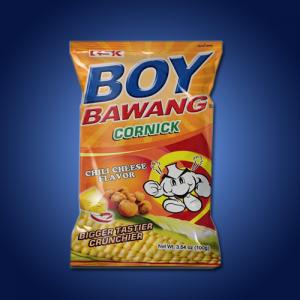 Boy Bawang Corn Snack Chilli Cheese 40 x 100g